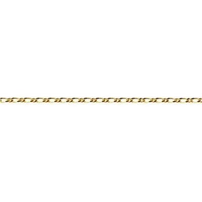 Genuine Figaro Diamond Cut Chain 9 Karrat Yellow Gold 45CM Necklace