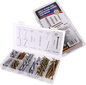 206pc Wall Plug & Wood Screw Assortment.