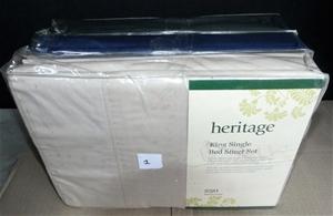 3 x Heritage King Single 250 Thread Coun