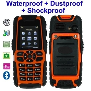 Unlocked Rugged Tough Waterproof Shockproof Military Style Mobile Phone