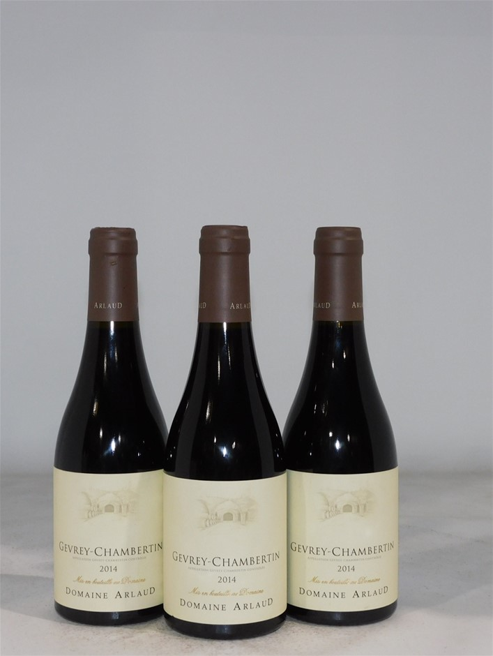 Domaine Arlaud Gevery-Chambertin 2014 (3x 375mL), France. Cork.
