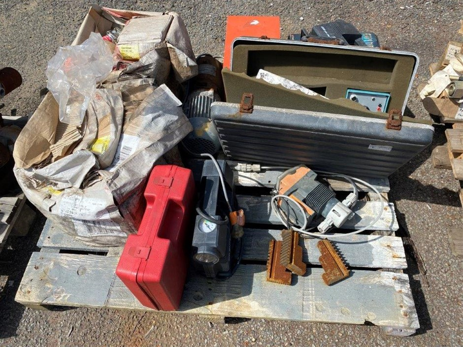 Pallet Assorded Parts Including 12V Air Compressors
