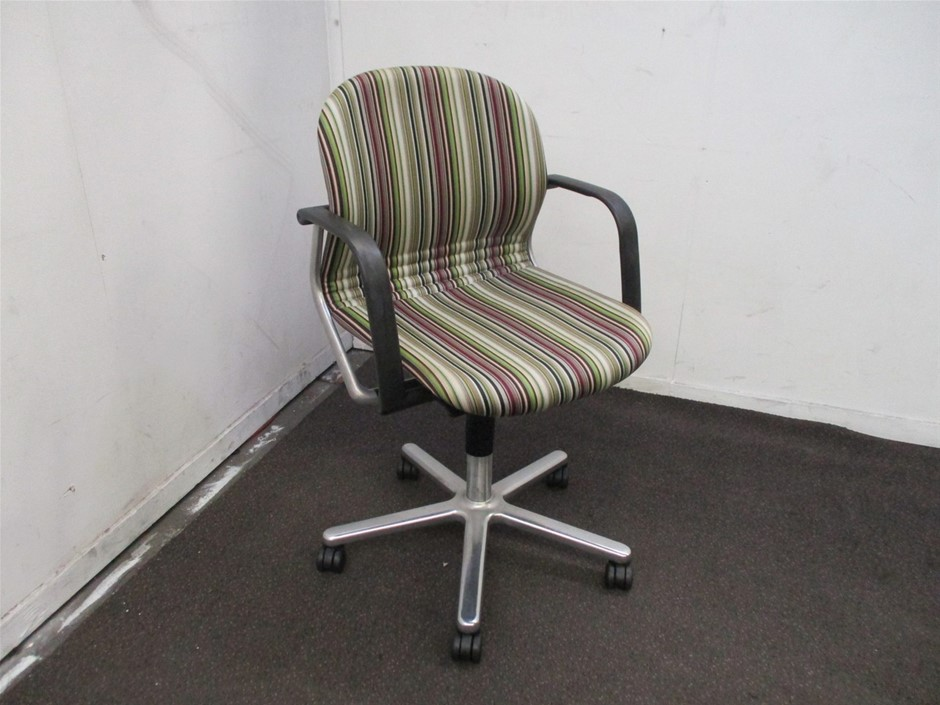Wilkhahn Striped Office Chair
