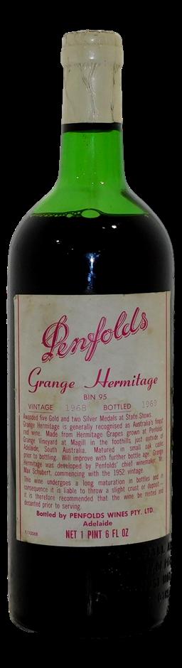Penfolds Grange Hermitage Bin 95 Shiraz 1968 (1x 1PT 6 FL OZ), SA. Cork