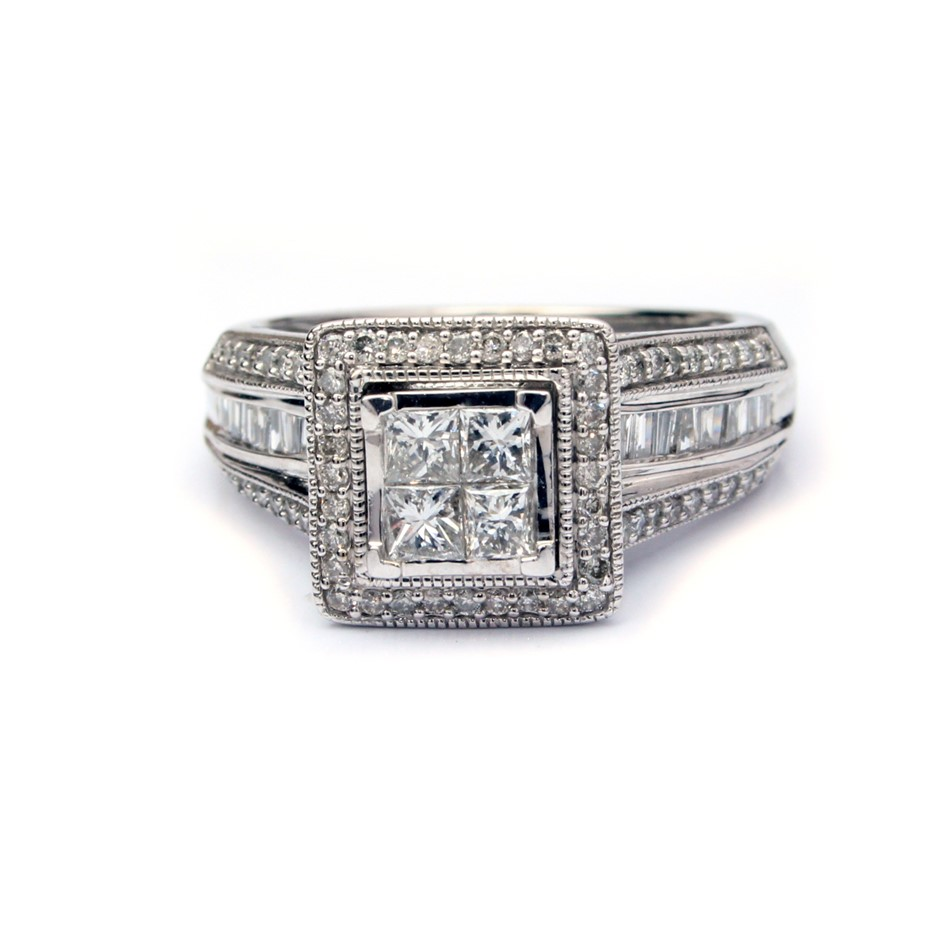 Magnificent 10ct White Gold Diamond Engagement Ring
