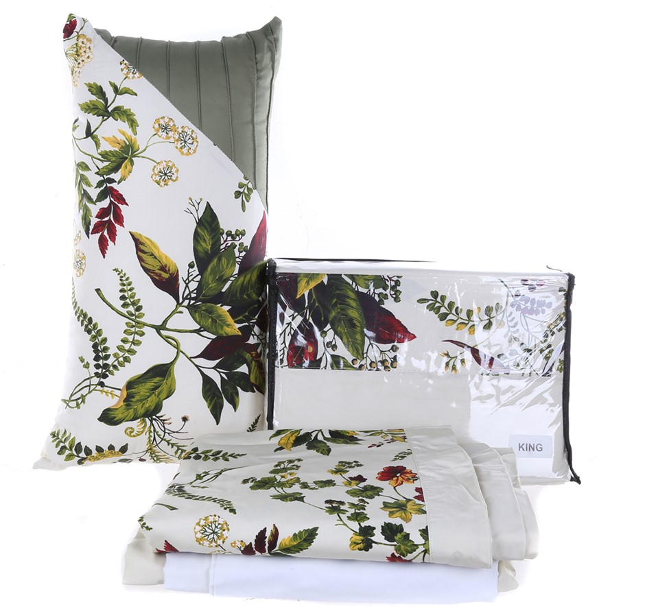 TRIBECA LIVING King 10-Piece Bed Sheet Set. (SN:CC65271) (275163-69)