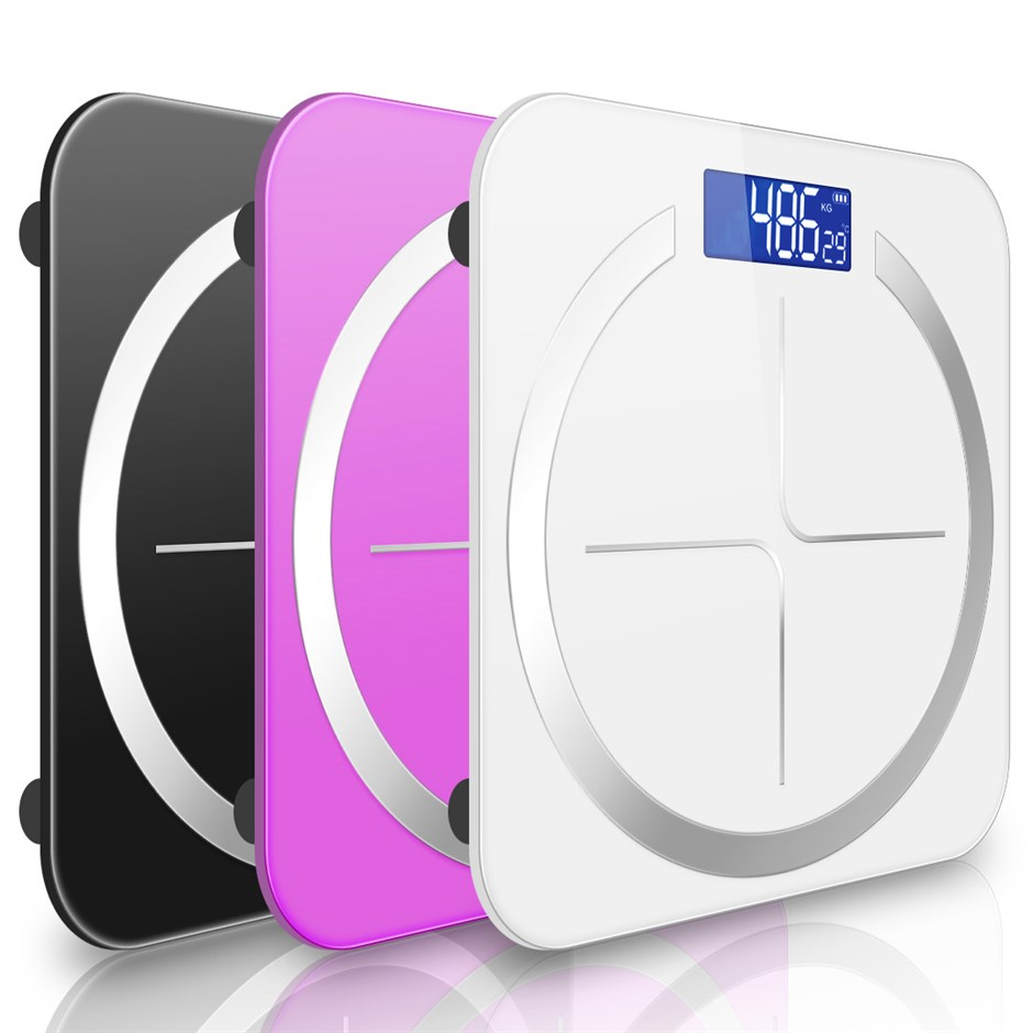 SOGA 3X 180kg Digital Fitness Weight Bathroom Glass LCD Electronic Scales