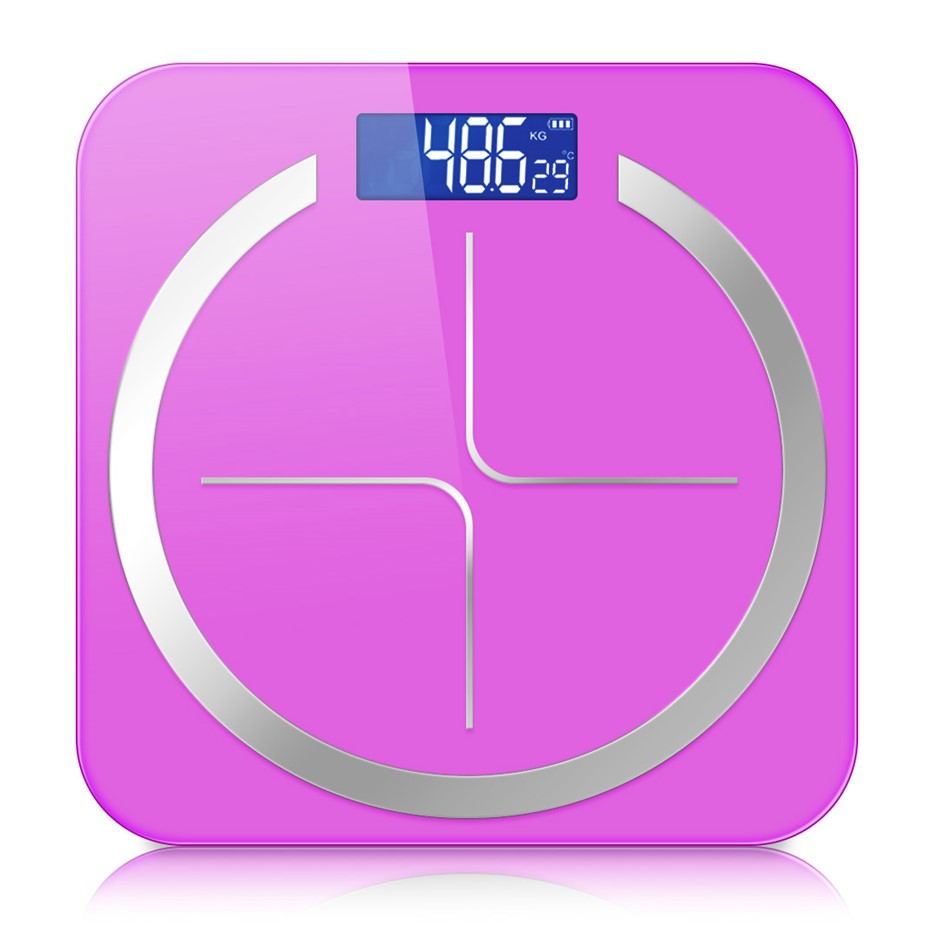 SOGA 180kg Digital Fitness Weight Bathroom Glass LCD Electronic Scales Pink