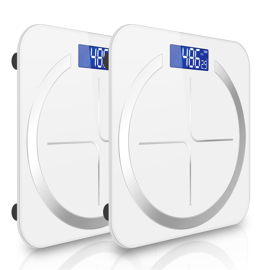 SOGA 2X 180kg Digital Fitness Weight Bathroom Glass LCD Electronic Scales