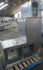 Stainless Steel Corner Benchtop With Spl