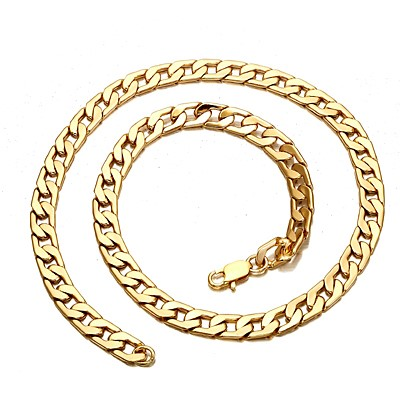 Men's gold plated Cuban necklace 8mm
