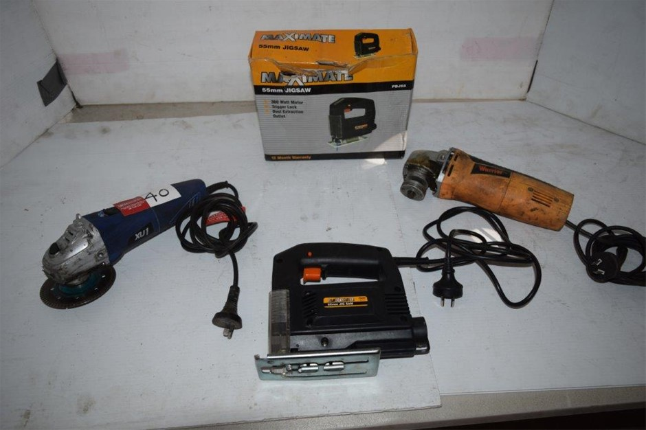 Lot of 3 Corded Power Tools
