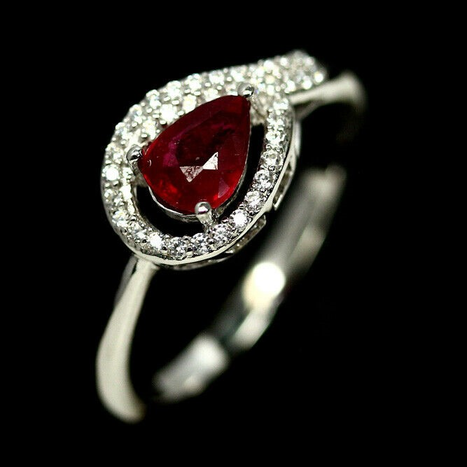 Striking Genuine Ruby Ring.