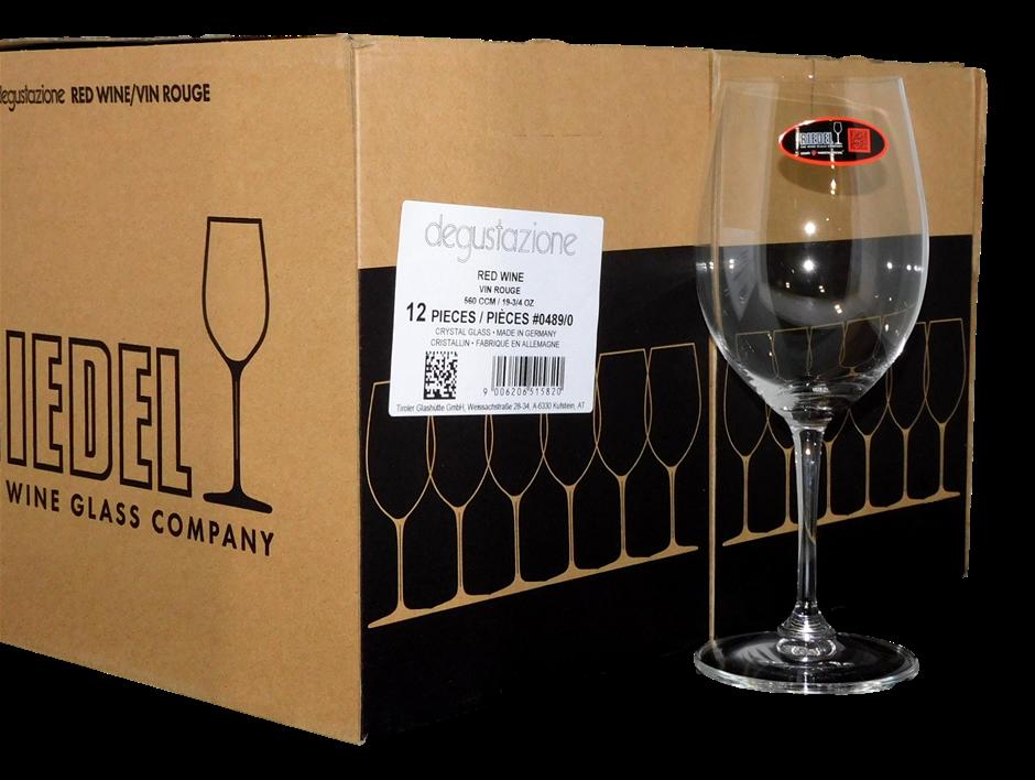 Riedel 560CCM Degustazione Crystal Glass Red Wine Glasses (12 x 560CCM)