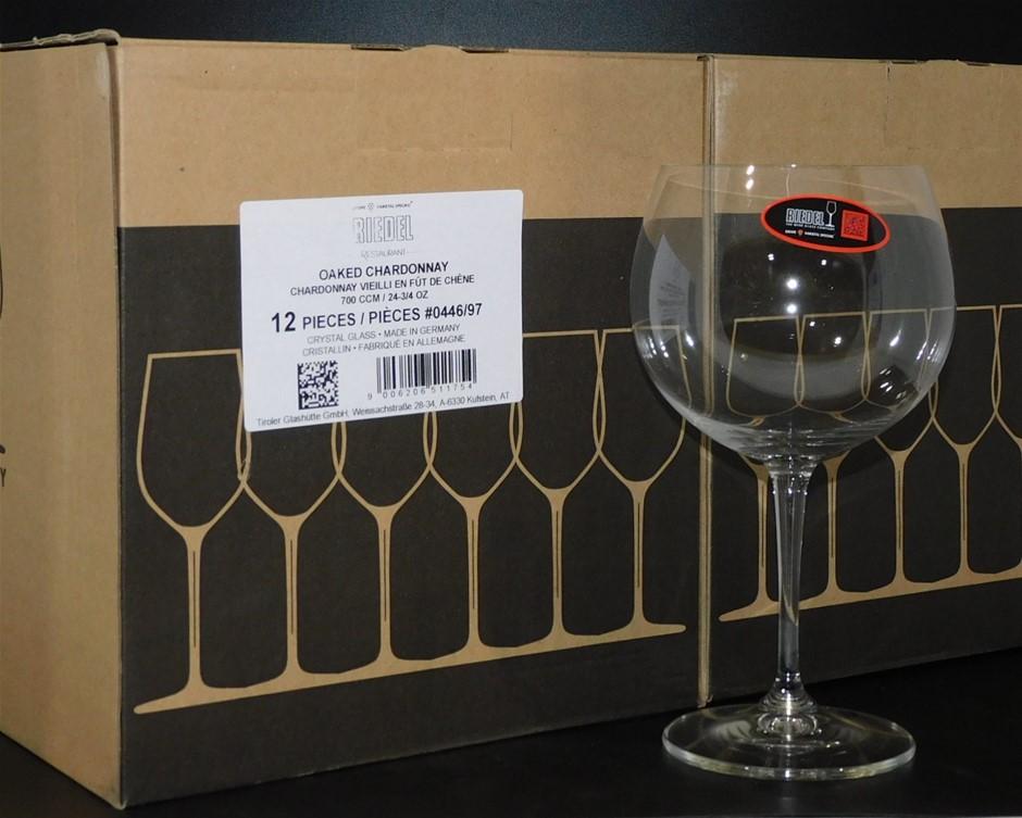 Riedel 700CCM Crystal Glass Oaked Chardonnay Glasses (12 x 700CCM)
