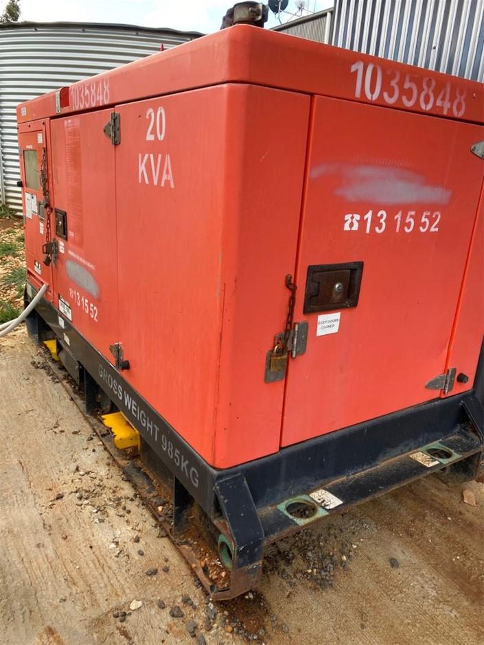Kubota GMS20K 20 Kva Diesel Generator Skid Mounted