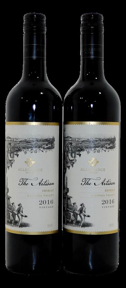 Allegiance Wines The Artisan Shiraz 2016 (2x 750mL), Barossa, SA