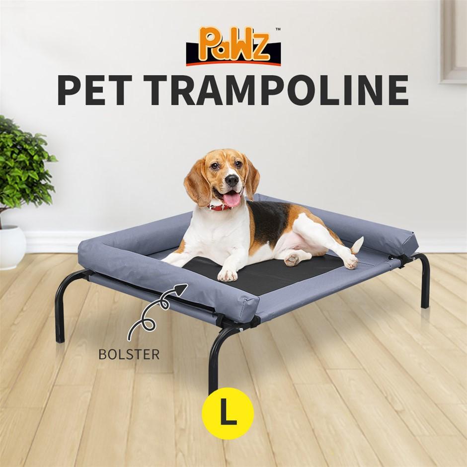 PaWz Heavy Duty Pet Bed Bolster Trampoline Dog Puppy Cat Hammock Mesh L