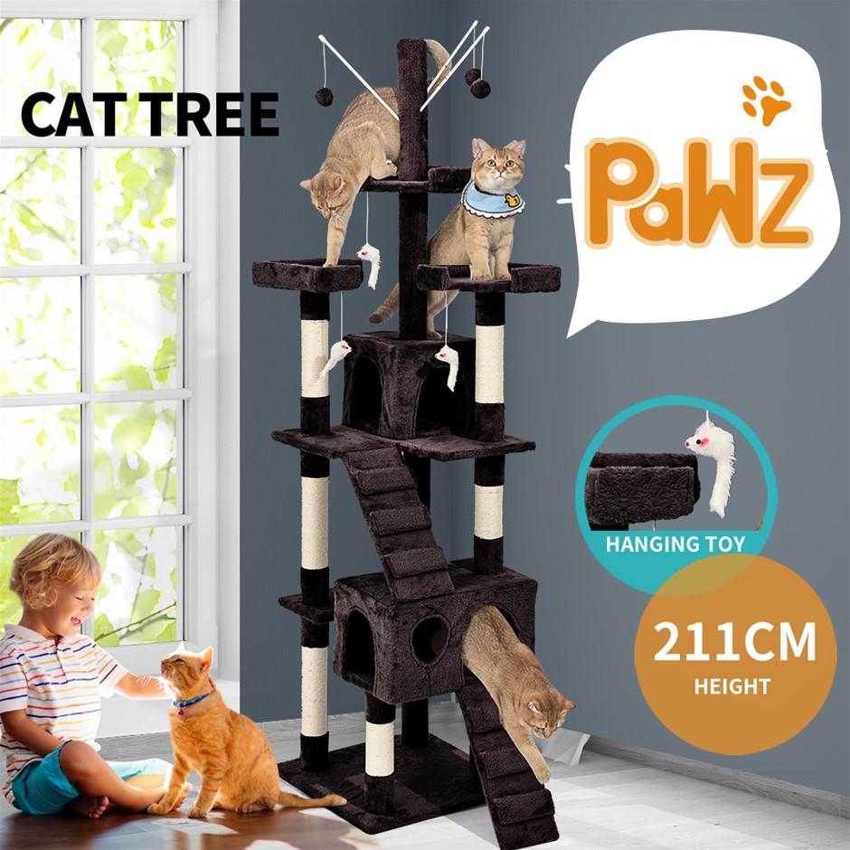 PaWz Cat Tree Scratching Post Scratcher House Condo Tower Furniture Dark