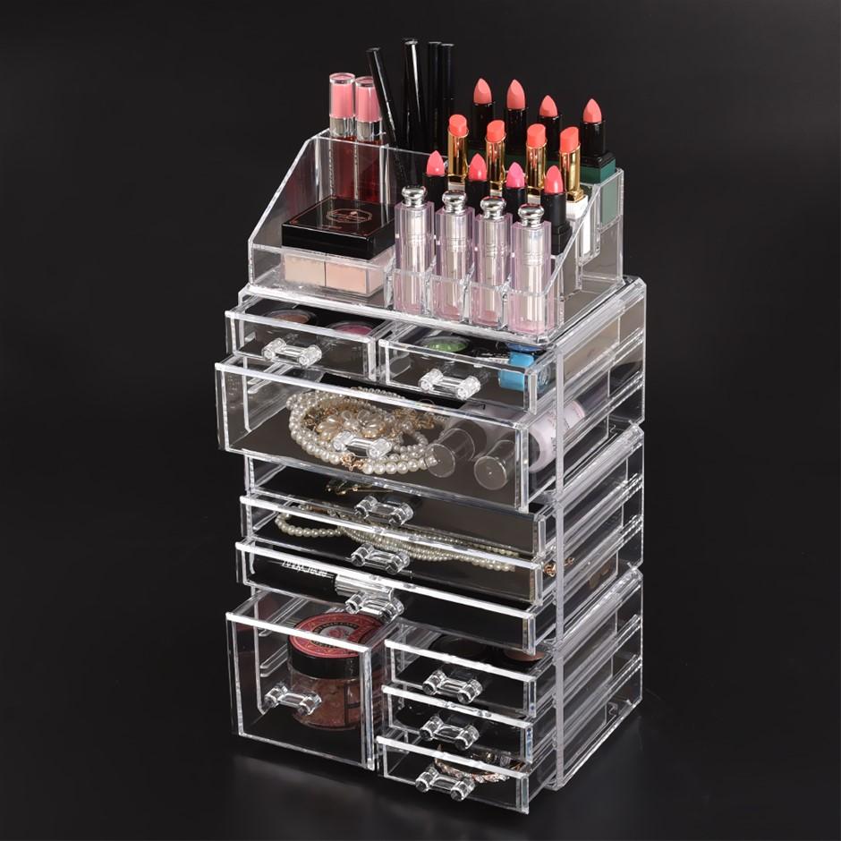 Cosmetic 7/8//9/10/11 Drawer Makeup Organizer Storage Jewellery Box Acrylic