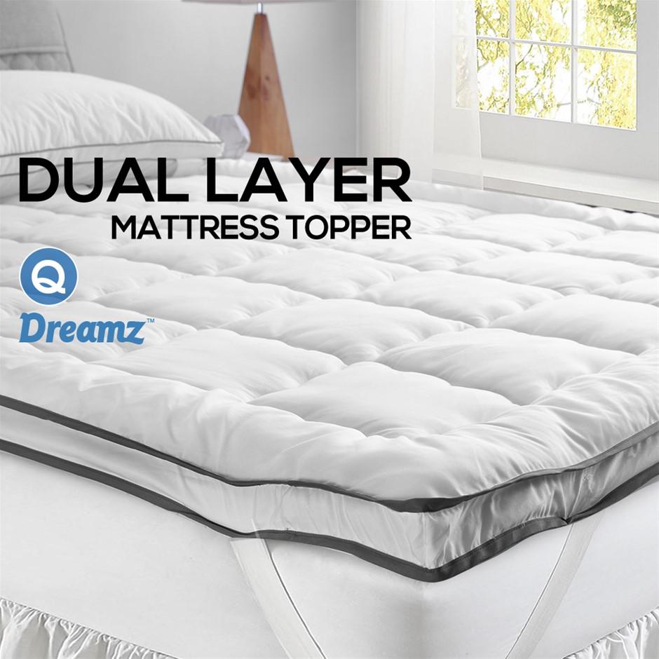 DreamZ Bedding Luxury Pillowtop Mattress Topper Mat Protector Cover Queen