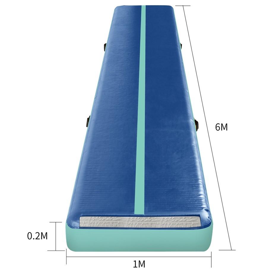 Centra 6X1M Air Track Inflatable Mat Airtrack Tumbling Air Pump Gym Dark