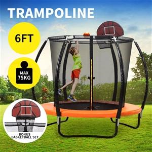 6FT Trampoline Round Trampolines Basketb