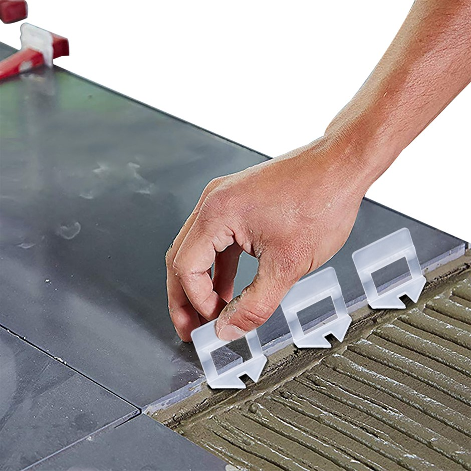 1000x 1.5MM Tile Leveling System Clips Levelling Spacer Tool Floor Wall