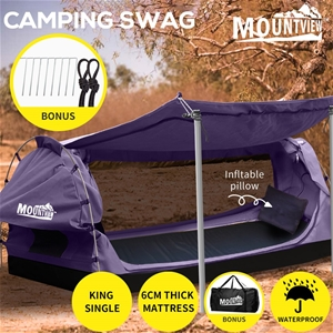 Mountview King Single Swag Camping Swags