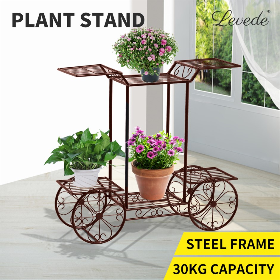 Outdoor Indoor Pot Plant Sd Garden Decor Flower Rack Shelf Wrought Bronze