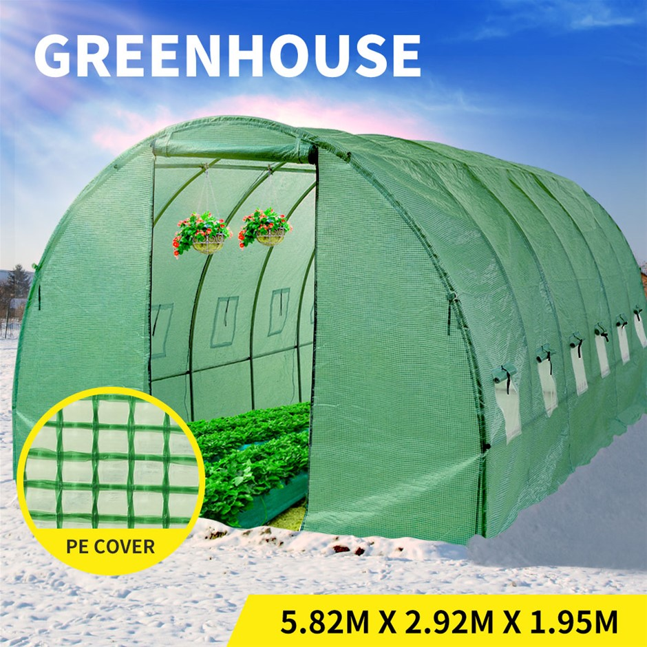 Greenhouse Plastic Cover Film Walk In Green House Garden Tunnel Frame