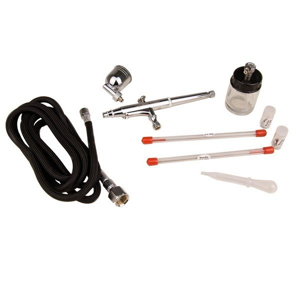 Dual Action Suction Feed Gravity Air Brush Gun Kit