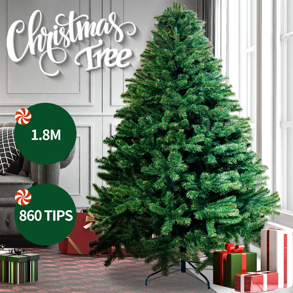 Christmas Tree Kit Decorations Colorful Plastic Ball Baubles w/ LED Light