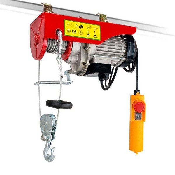 125 /250 Kg 12m Rope Electric Winch / Hoist