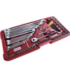 SIDCHROME 88pc Metric Socket & Spanner Tray Set 1/2``, 3/8``, 1/4`` Drive C