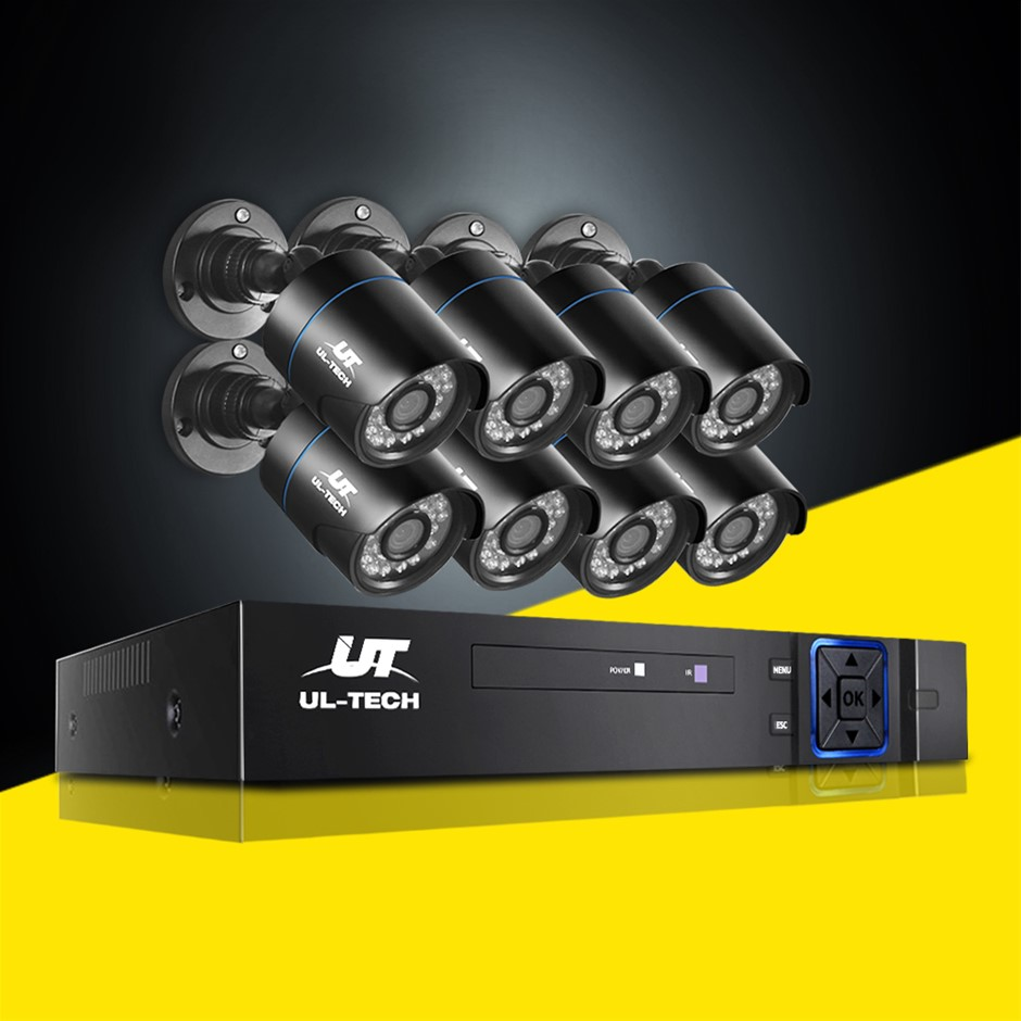 UL-tech CCTV 5MP Security Camera System 8CH 5 in 1 DVR Home Outdoor
