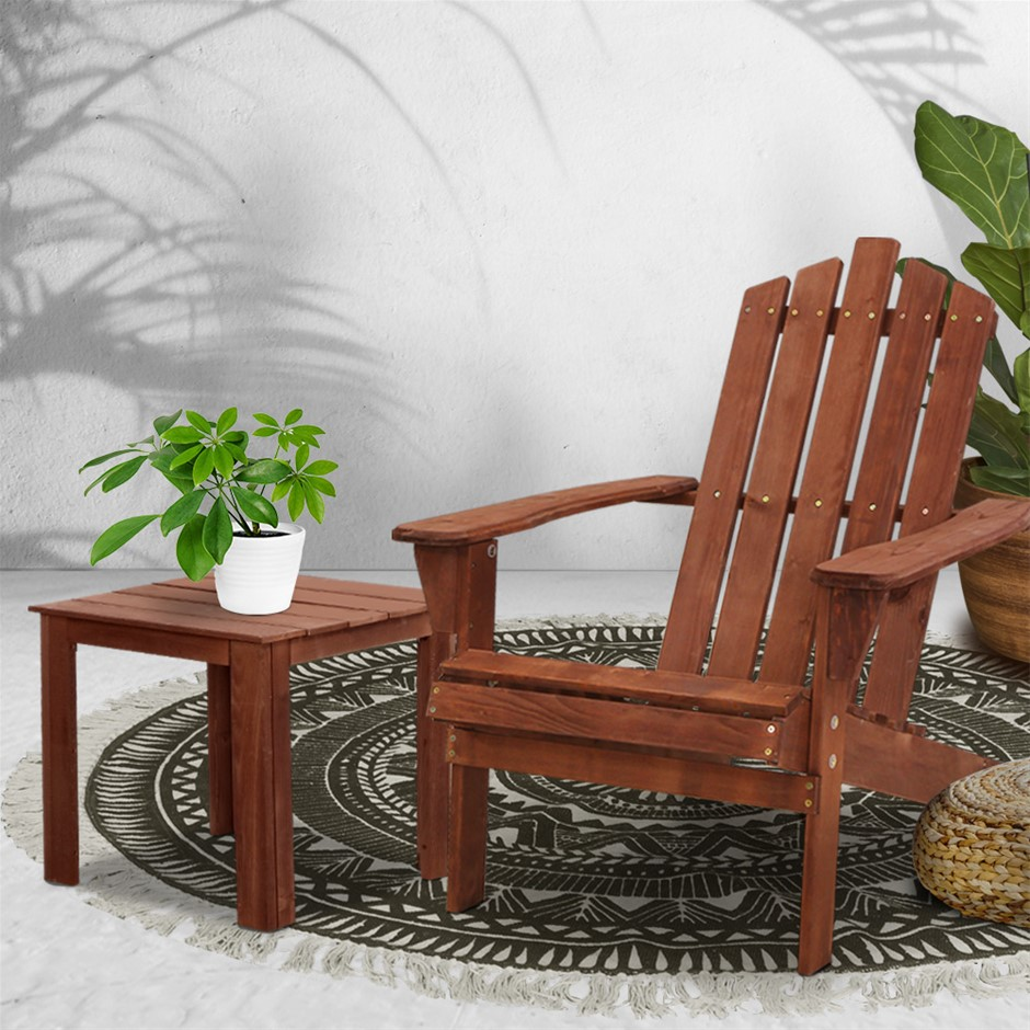 Gardeon Outdoor Sun Lounge Chairs Table Setting Wooden Patio Lounges Chair
