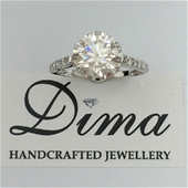 Dima Handcrafted 18 Karat Moissanite and Diamond Collection