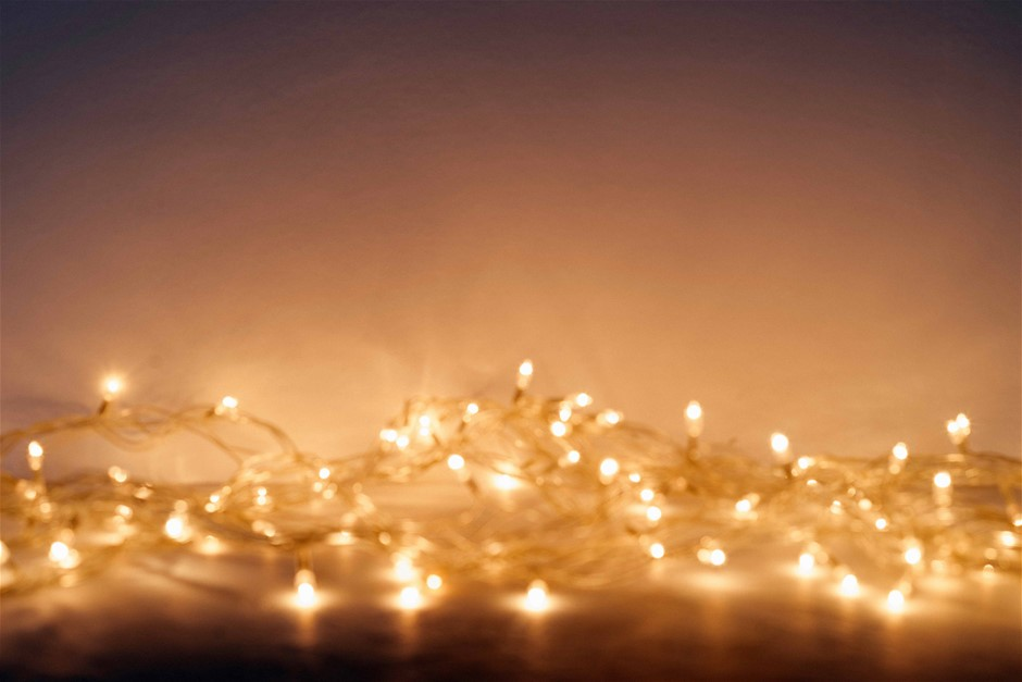 500 LED Curtain Fairy String Lights Wedding Outdoor Xmas Party Lights Warm