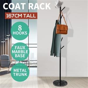 8 Hook Coat Stand Rack Metal Tree Style