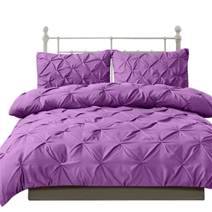 DreamZ Diamond Pintuck Duvet Cover and P