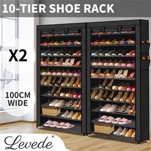 2X Levede Shoe Rack Storage Cabinet Cube