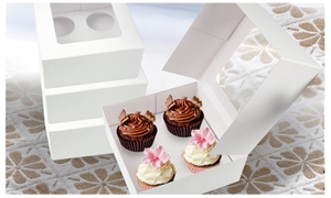 4 Holes Cupcake Boxes 20/50/100 Pk Windo