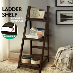 Levede 3 Tier Ladder Shelf Stand Storage