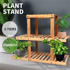 3 Tiers Premium Bamboo Wooden Plant Stan