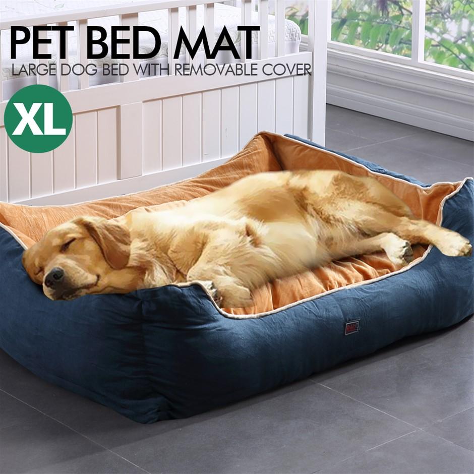 PaWz Pet Bed Mattress Dog Cat Pad Mat Puppy Cushion Soft Warm Washable XL