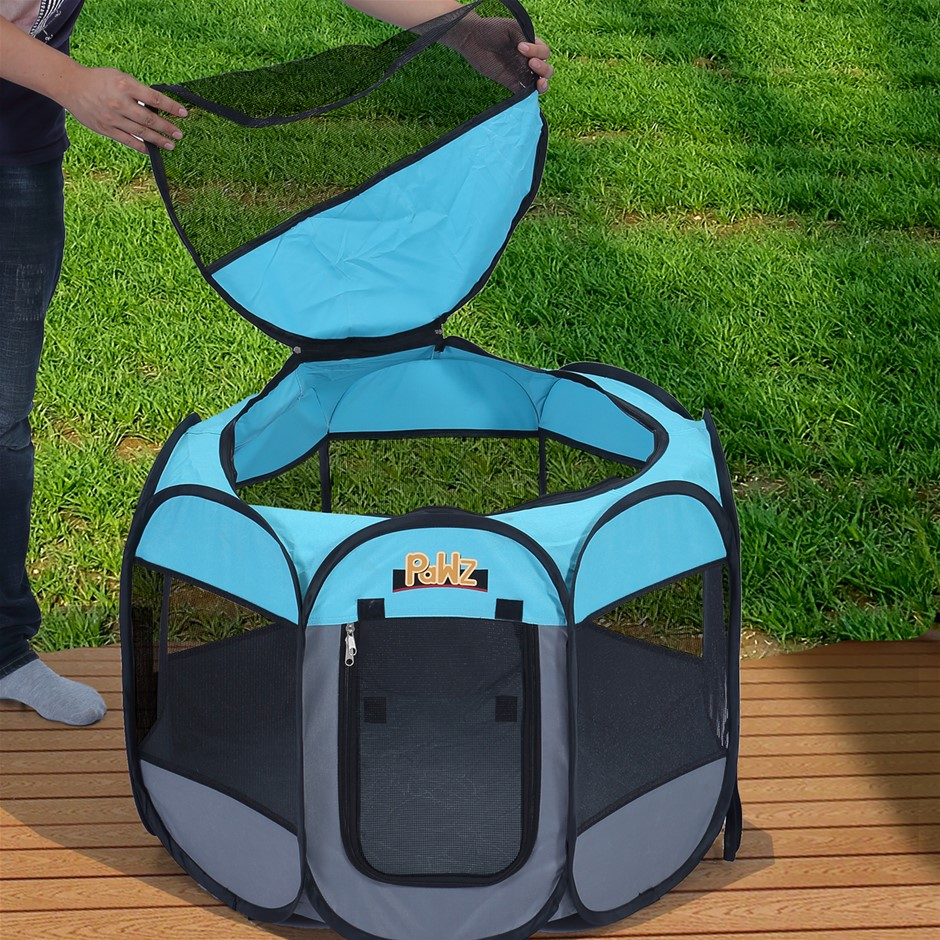 PaWz Dog Playpen Pet Play Pens Foldable Panel Tent Cage Portable Crate 62""