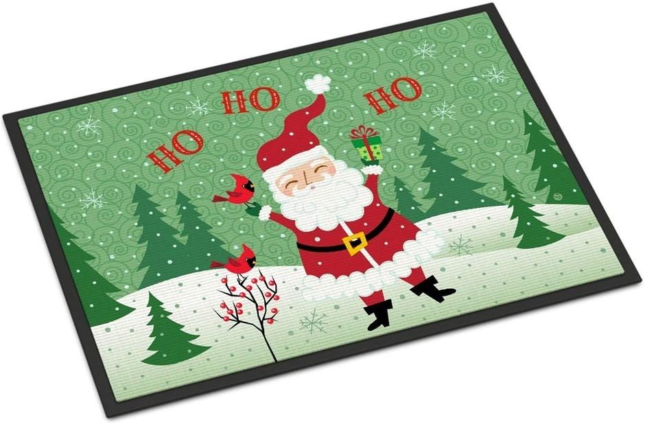 Caroline`s Treasures Merry Christmas Santa Claus Ho Ho Ho Indoor or Outdoor