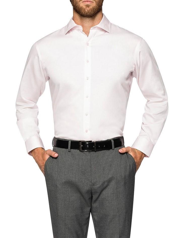 VAN HEUSEN Pink Sateen Shirt. Size 46. Cotton Blend. Buyers Note - Discount