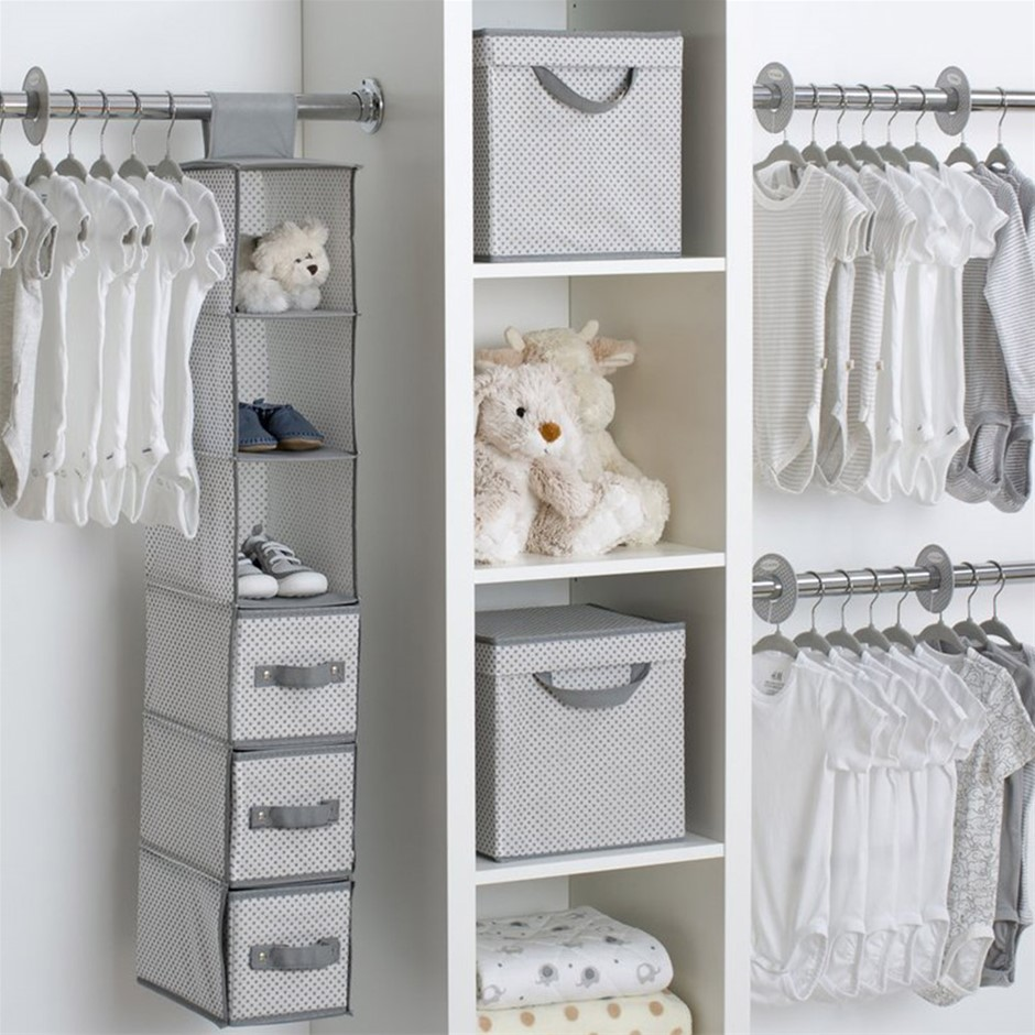 Delta Children 48 Piece Nursery Storage Set Cool Grey